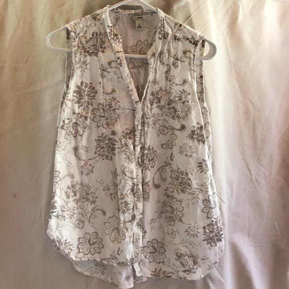 1250c23cbf4bb L.L. Bean Tops - LL Bean Sleeveless Linen Shirt